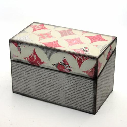 Dekoideen für Weihnachtsgeschenke retro box kasten
