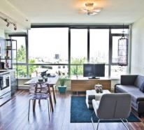Wohnzimmer Und Küche In Einem Raum Kombiniert Klug Und Praktisch