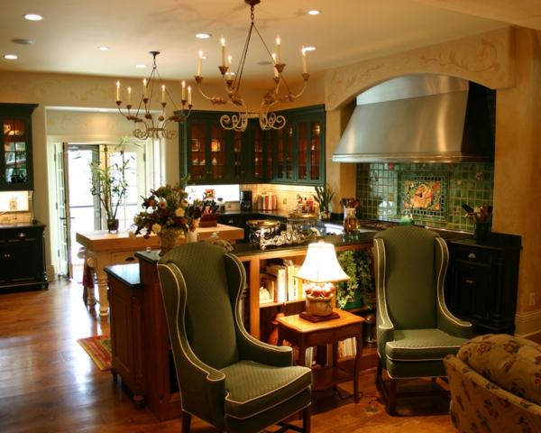 Gemütliche Wohnfläche in der Küche traditionell einrichtung design