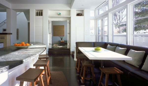 Gemütliche Wohnfläche in der Küche zeitgenössische design einrichtung sofa