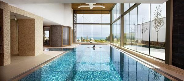 Ideen für großartiges Hallenbad glas wände