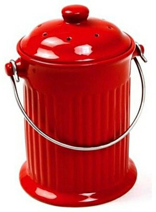 Ideen fürs Papierkorb in Ihrem Büro metall rot