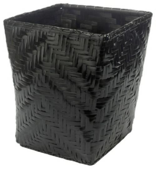 Papierkorb in Ihrem Büro schwarz geflochten plastisch