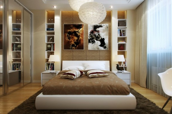 kleines schlafzimmer modern gestalten designer l sungen. Black Bedroom Furniture Sets. Home Design Ideas