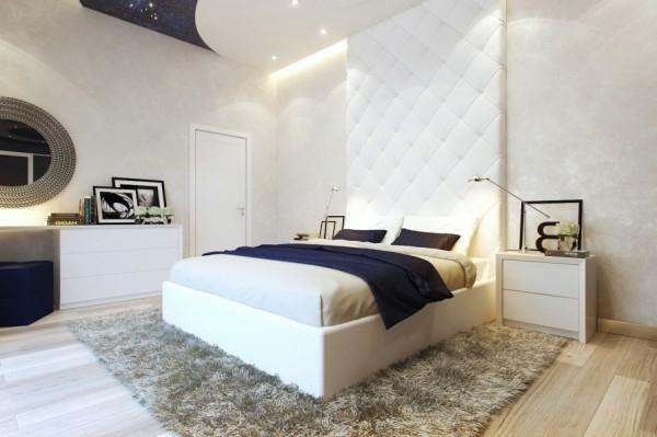 Kleines Schlafzimmer Modern Gestalten Weiß Texturen