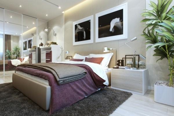kleines schlafzimmer modern gestalten - designer lösungen - Schlafzimmer Modern