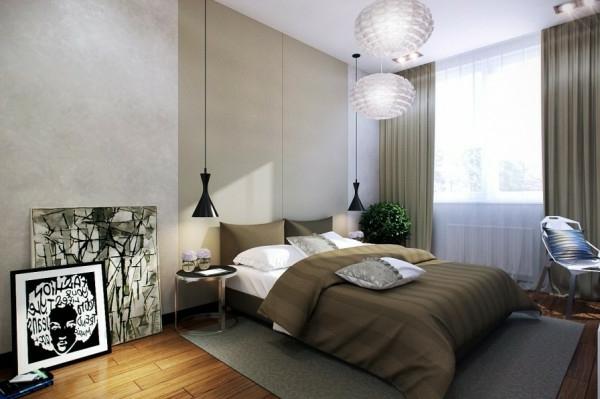 Schlafzimmer modern weiß holz  Kleines Schlafzimmer modern gestalten - Designer Lösungen