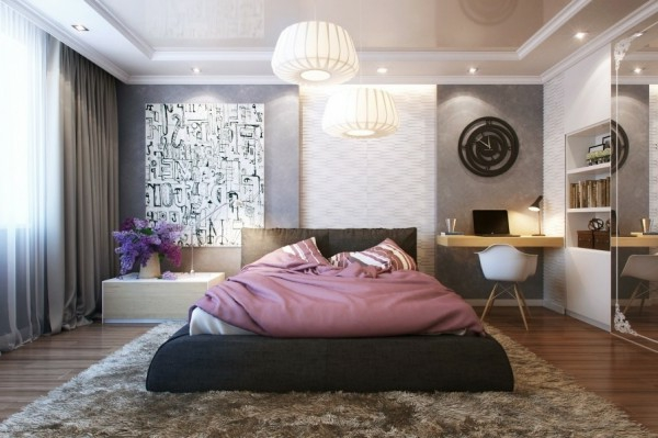 kleines schlafzimmer modern gestalten designer l sungen. Black Bedroom Furniture Sets. Home Design Ideas