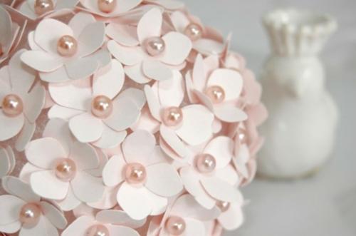 Party Dekoration aus Papier elegant rosa perlen Leichte DIY
