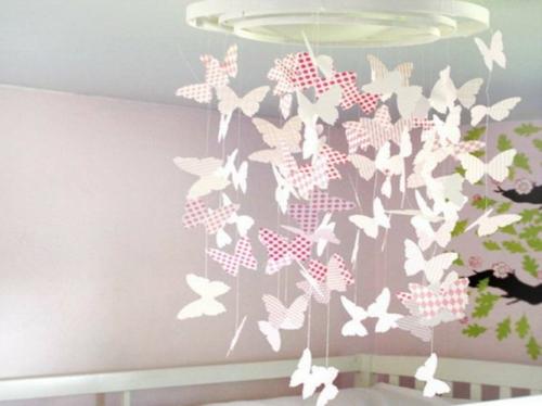 Leichte DIY Party Dekoration aus Papier schmetterlinge