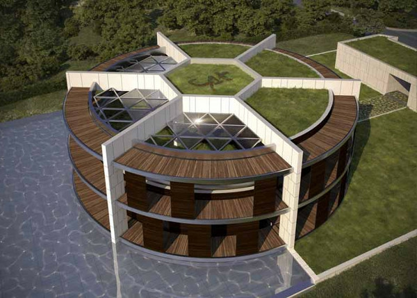 Luis de Garrido Nachhaltiges Ökohaus in Form von Fußball