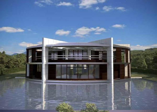 Luis de Garrido Messi Nachhaltiges Ökohaus in Form von Fußball