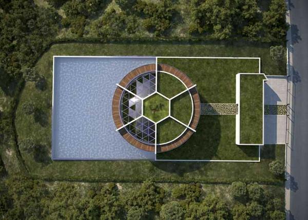 Luis de Garrido Messi barcelona Nachhaltiges Ökohaus in Form von Fußball