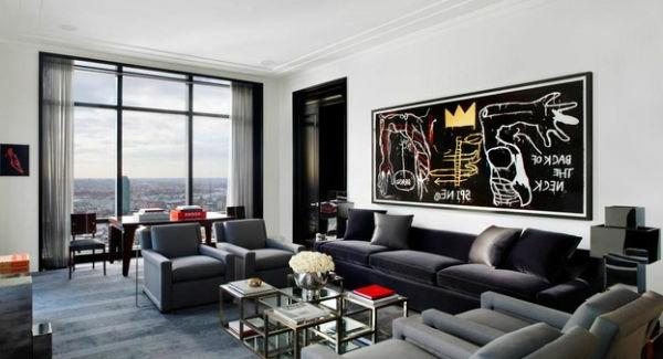 Wohnzimmer einrichten bauplan städtisch wandgestaltung Luxus