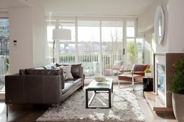 Luxus Wohnzimmer einrichten bauplan weich fellteppich