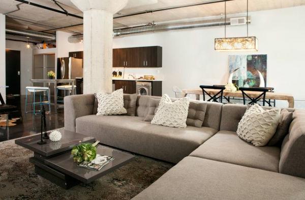 Luxus wohnzimmer einrichten 70 moderne einrichtungsideen for Wohnung modern gestalten