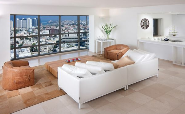Luxus Wohnzimmer einrichten weiß sofa auflagen