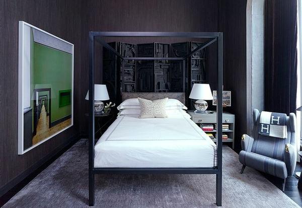 Minimalistisches Himmelbett Vor Wand Mit : Modernes jugendzimmer gestalten einrichten wohnideen
