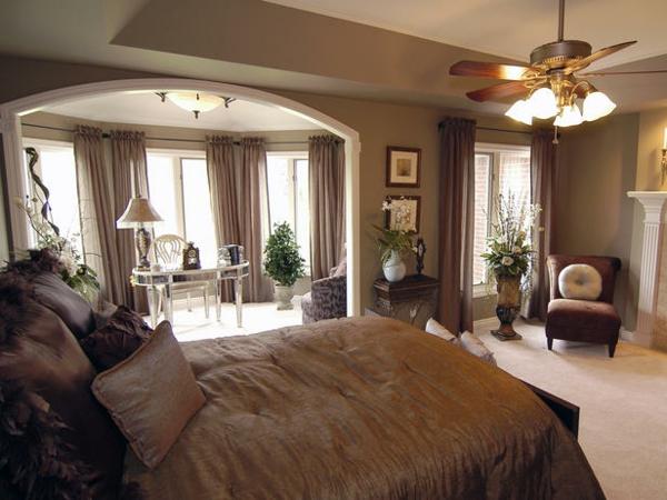 Schlafzimmer Trends Braun Nuancen Bettwäsche Seide Luxus