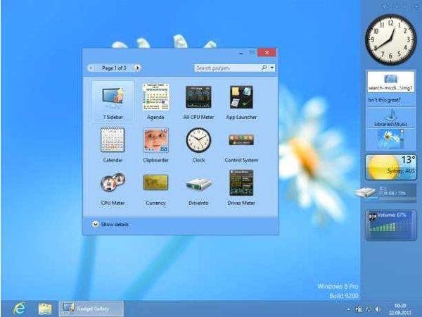 Screen8GP  kostenfreie Gadgets fürs Windows 7 Desktop
