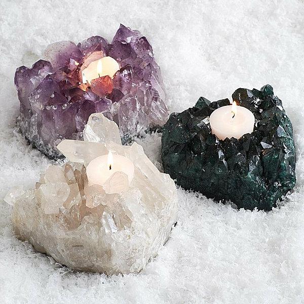 Strahlende Wohnideen für die festliche Winterzeit mineral kristall halter