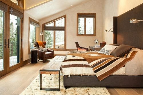 Teppiche aus Marokko zu Hause streifen warm braun design