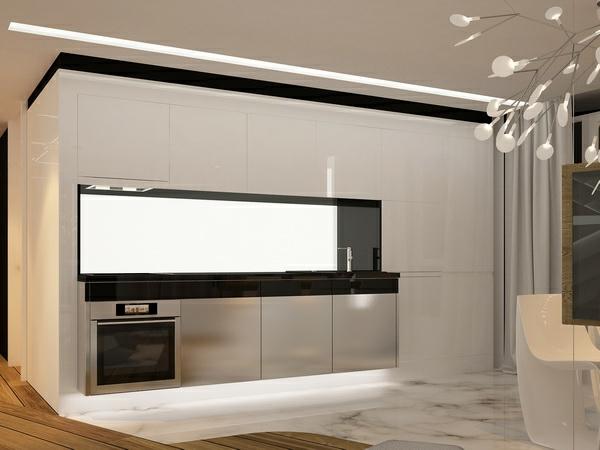 ultramoderne einrichtung in einem apartment in barcelona. Black Bedroom Furniture Sets. Home Design Ideas