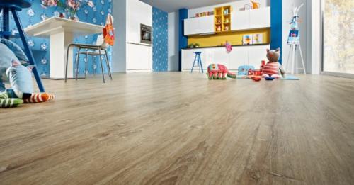 Bodenbelag Vinyl textur dauerhaft kinderzimmer blau einrichtung