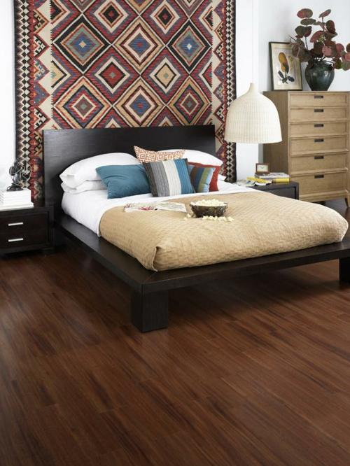 Vinyl Bodenbelag textur tafel holz einrichtung schlafzimmer