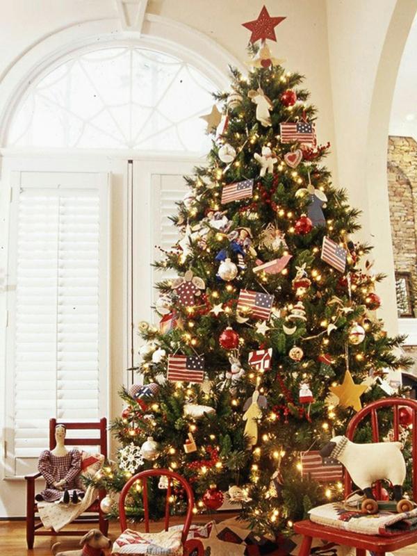 Mini Decorated Christmas Trees