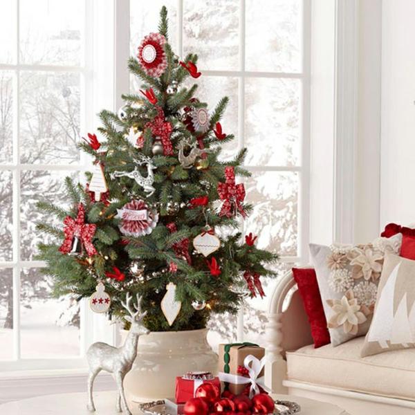 Weihnachtsdekoration Fur Kunstlichen Weihnachtsbaum 25 Wohnideen