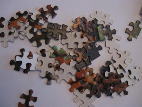 Weihnachtsdekoration selber machen puzzle teile