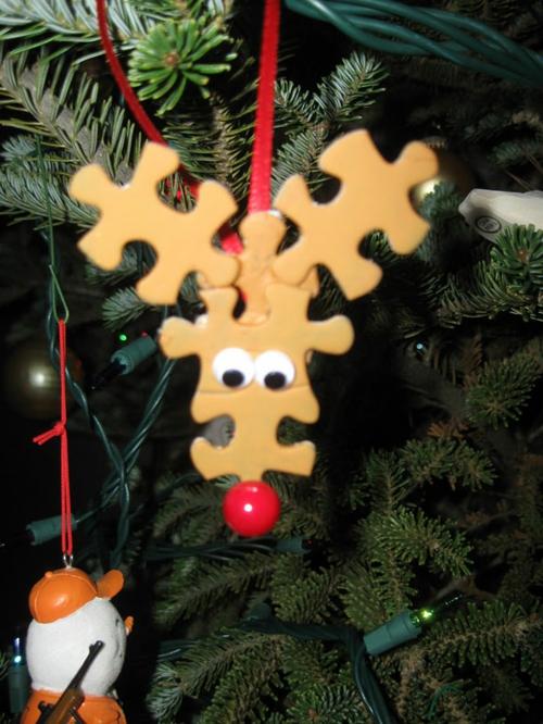 Weihnachtsdekoration selber machen rudolph teile