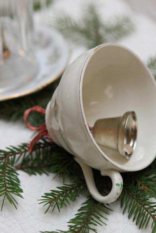 Weihnachtsdekoration selber machen teetasse