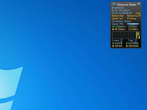 Wireless Network Meter Nützliche kostenfreie Gadgets fürs Windows 7 Desktop