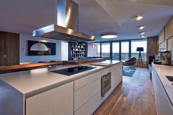 apartement elegante küchenschränke in weiß matt