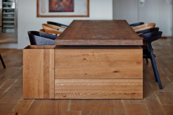 appartement esstisch aus massivem eichenholz