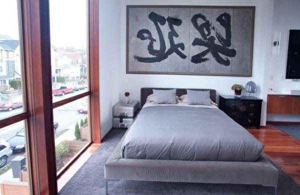 asien stil motive akzente matratze bett groß fenster