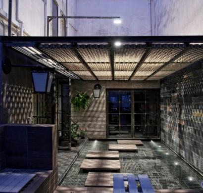 Moderne Au Enbeleuchtung schickes loft und design studio in einem kombiniert