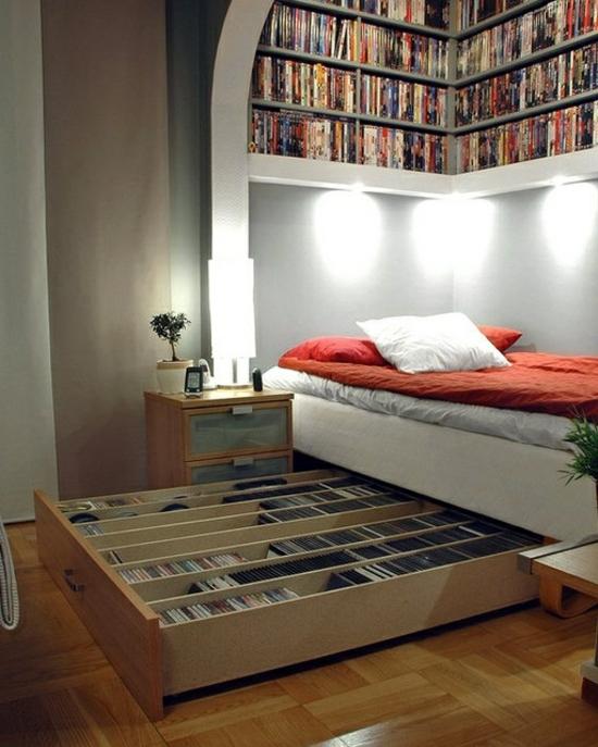 Aufbewahrungsideen im schlafzimmer 35 ausgekl gelte l sungen for Chambre a coucher sans fenetre
