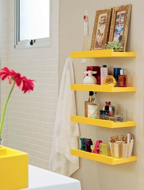 Badeinrichtung Mit Extra Stauraum - 45 Stilvolle Ideen Für Sie Badezimmer Zitronengelb