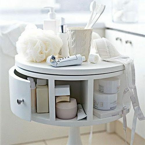 badeinrichtung weiße Kommode für Kosmetikartikeln