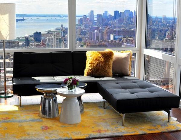 beleuchtung wohnzimmer design idee fenster ausblick