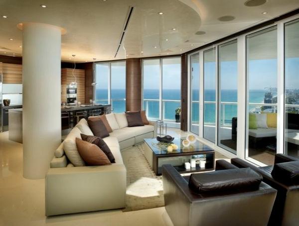 beleuchtung wohnzimmer design idee säule
