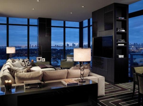 Beleuchtung Wohnzimmer Design Idee Tischlampen