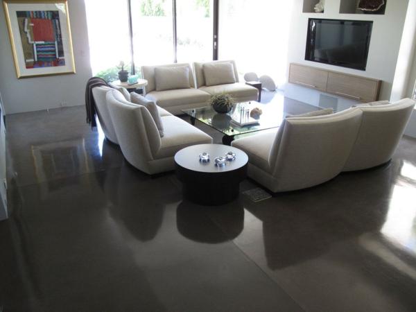 betonfußboden in grau poliert