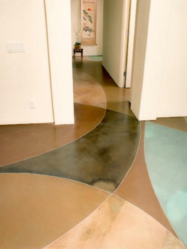 betonfußboden künstlerisch gestalten