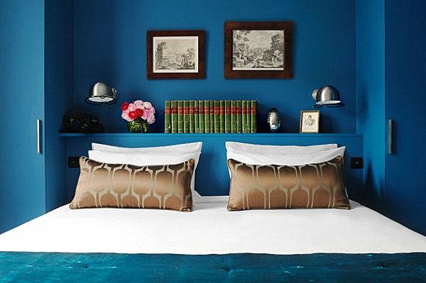 Farbgestaltung in den eigenen vier Wänden luxus Feeling vermitteln Blau und Gold