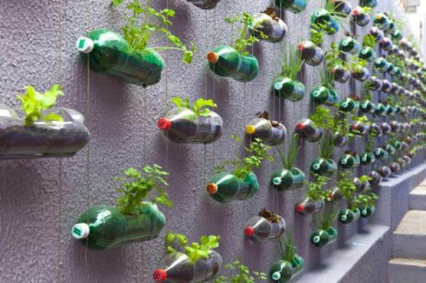 blumen töpfe aus plastik flaschen