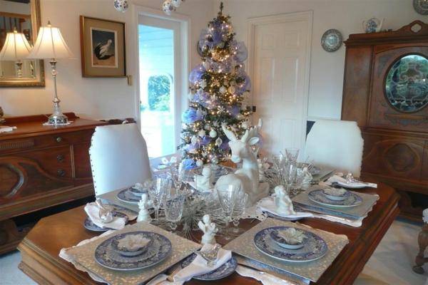 bunte Wohnideen für Weihnachtsdekoration romantisch atmosphäre